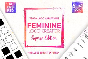 Feminine Logo Creator Kit - Square