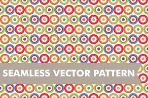 Seamless Vector Bullseye Pattern