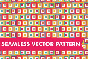 Seamless Vector Squares Pattern