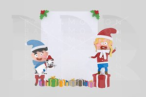 3d illustration. Kids banner.