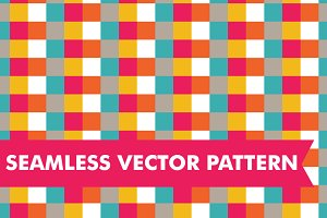 Seamless Vector Checkered Squares