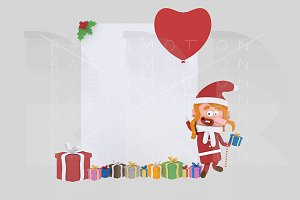 3d illustration. Xmas girl banner.