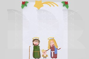 3d illustration. Jesus´s birth banne