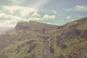 Hiking on the isle of Skye