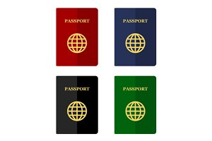 Color Passports Icons Set