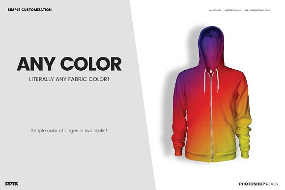 Mens Ghosted Zip Hoodie Templates Product Mockups Creative Market