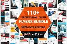 110+ Clean Business Flyers Bundle