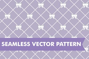 Bow Lattice Seamless Vector Pattern