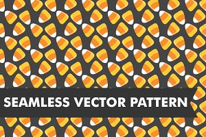 Candy Corn Seamless Halloween Vector