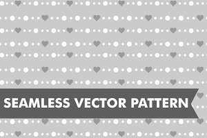 Chain Hearts Seamless Vector Pattern