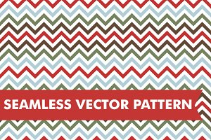 Christmas Chevron Seamless Vector
