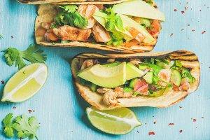 Healthy corn chicken tortillas