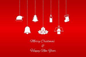 Hanging Christmas symbols