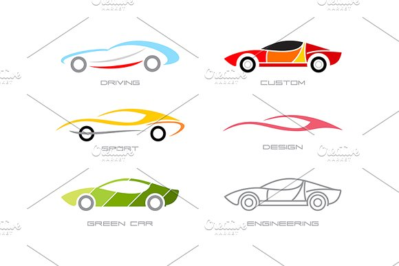 Modern Cars - Illustrations