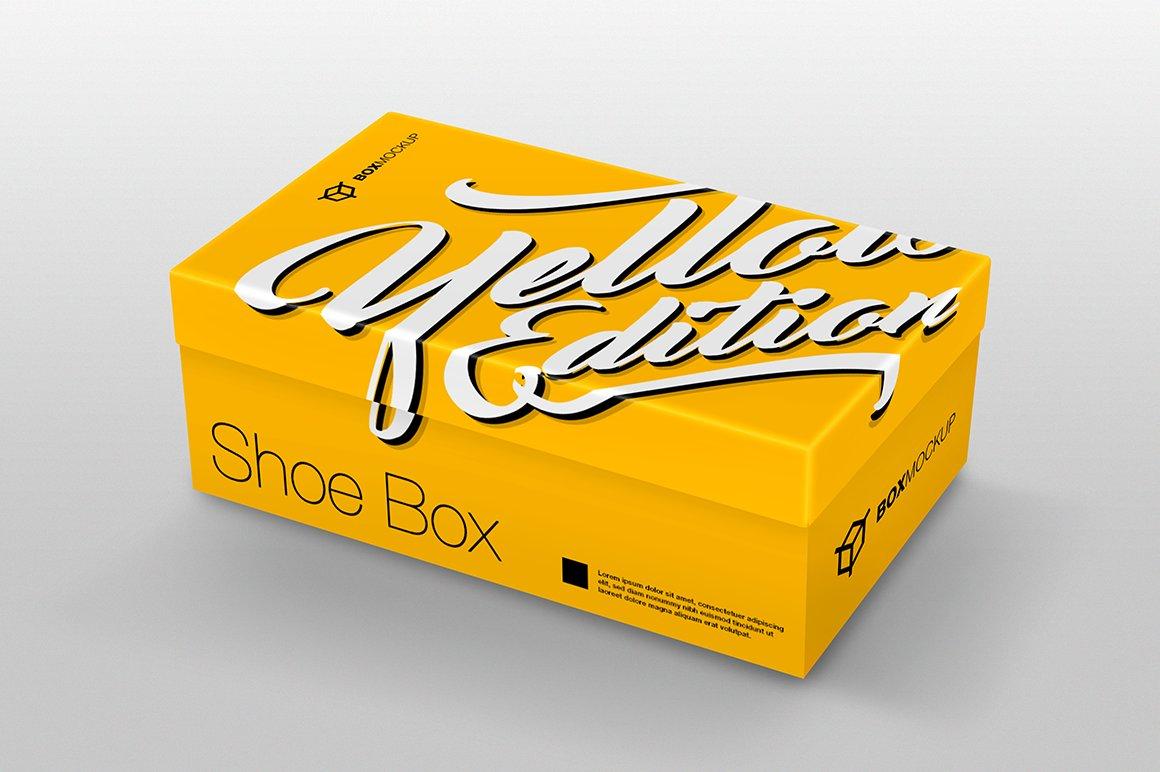 shoe box mockup product mockups creative market. Black Bedroom Furniture Sets. Home Design Ideas