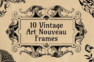 10 Ornate Art Nouveau Frames