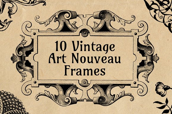 10 Ornate Art Nouveau Frames ~ Illustrations ~ Creative Market