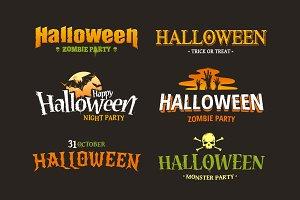 Halloween Typography Set