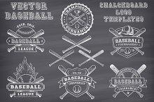Vector Baseball Chalk Logo Templates