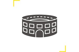 Stadium building icon. Vector