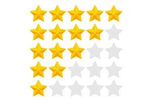 Five Rating Stars Set