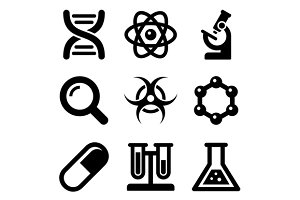 Chemical Science Icons Set