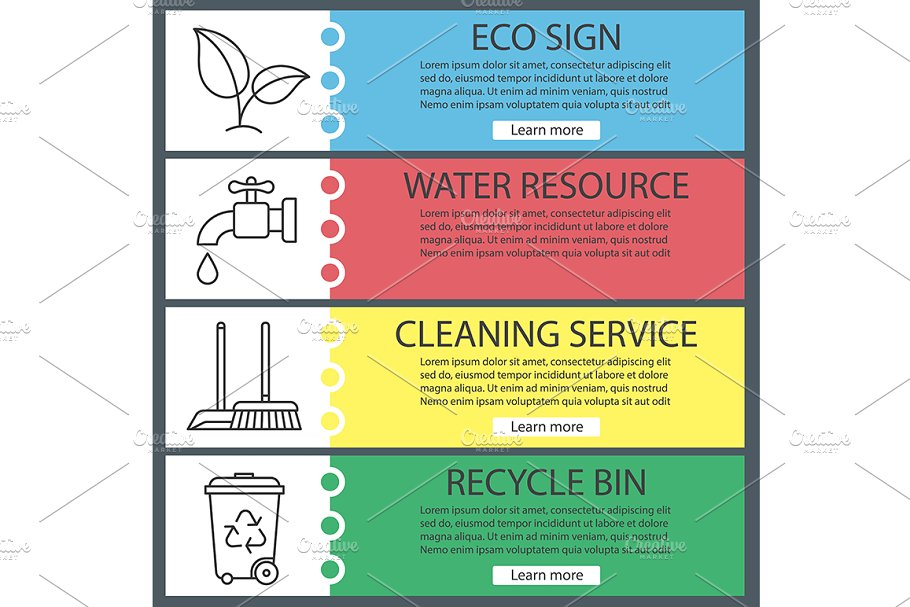 Ecology banners. Vector in Product Mockups