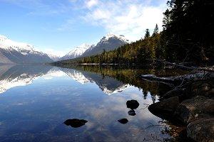 Reflection on Lake McDonald