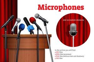 Realistic Microphones Set