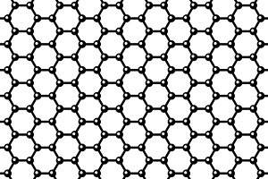 Graphene Seamless Pattern and Icons
