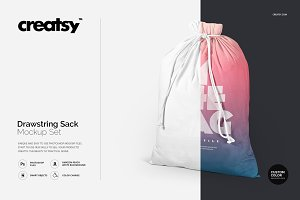 Drawstring Sack Mockup Set