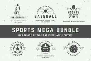 Sports emblems mega bundle.