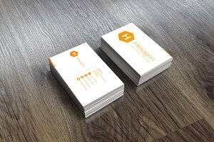 Hexagon clean business card