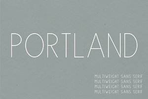 Portland | Multi-Weight Font