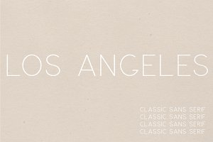 Los Angeles | A Multi-Weight Font