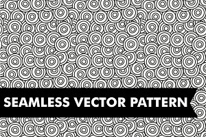 Black and White Seamless Circles