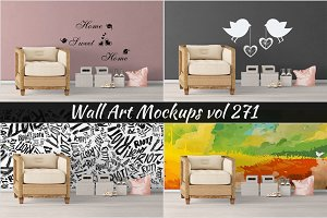 Wall Mockup - Sticker Mockup Vol 271