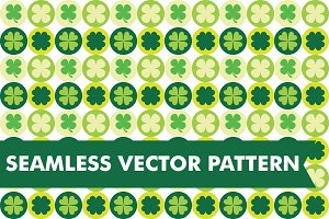 Clovers &Shamrocks Seamless Vectors