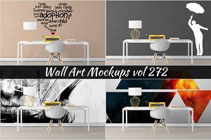 Wall Mockup - Sticker Mockup Vol 272