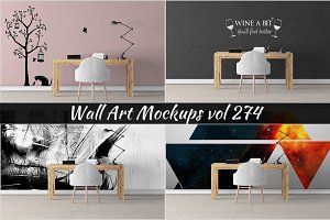 Wall Mockup - Sticker Mockup Vol 274