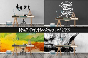 Wall Mockup - Sticker Mockup Vol 273