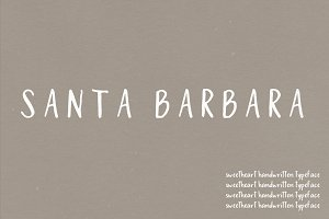 Santa Barbara | A Sweetheart Font