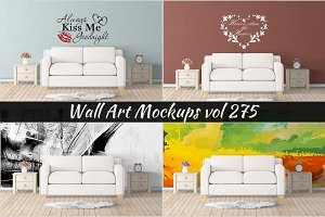 Wall Mockup - Sticker Mockup Vol 275