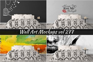 Wall Mockup - Sticker Mockup Vol 277