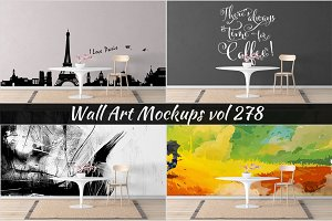 Wall Mockup - Sticker Mockup Vol 278