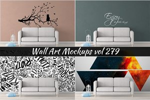Wall Mockup - Sticker Mockup Vol 279