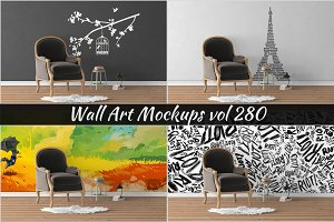 Wall Mockup - Sticker Mockup Vol 280