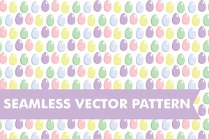 Easter Eggs Seamless Vector Pattern