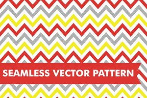 Fireman Chevron Seamless Vector