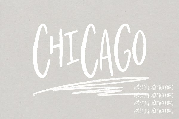 Chicago   A Hand Written Typeface